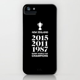 New Zealand Treble Rugby World Cup Champions iPhone Case