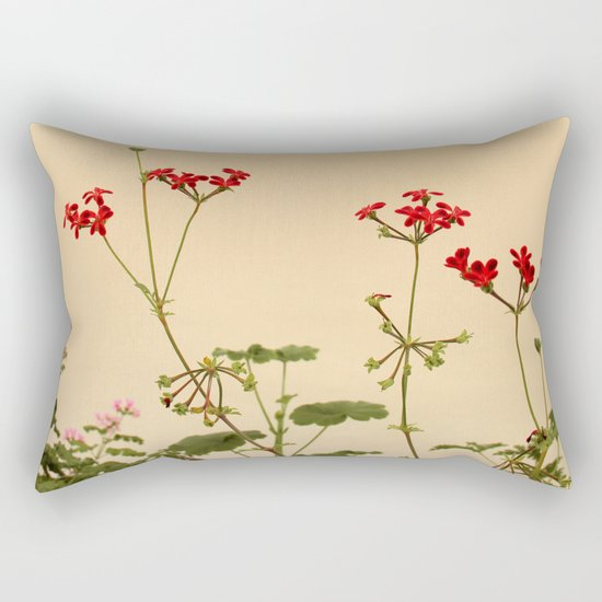 Geraniums (Pelargonium) #6 Rectangular Pillow