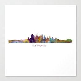Los Angeles City Skyline HQ v1 Canvas Print