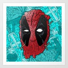 Been Deadpool Awhile  Art Print