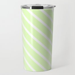 Cool Cucumber Diagonal Stripes Travel Mug