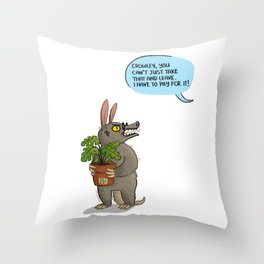 Good Omens- Aardvark Crowley Throw Pillow