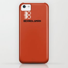 Beardlyman Logo and Name on Orange iPhone Case