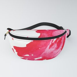 The One Who Came by Water and Blood. Watercolor Red Wave Fanny Pack