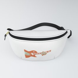 Vintage Retro Electric Guitar Artistic Musician Gift Fanny Pack