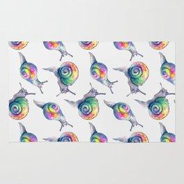 Rainbow Crystal Clear Snails Rug