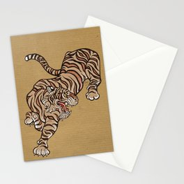 Tiger in Asian Style Stationery Cards
