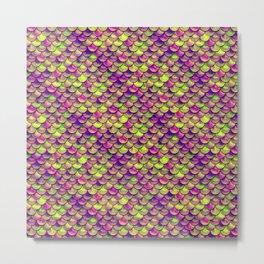 Purple Green Scales Metal Print