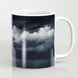 Full Moon over Ocean Coffee Mug