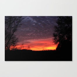 talkin shit about a pretty sunset Canvas Print