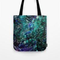siren Tote Bags featuring Siren by Nemeth Alina