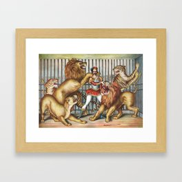 The Lion Tamer - Vintage Circus Art, 1873 Framed Art Print
