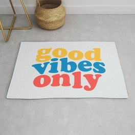 Good vibes only bright color Rug