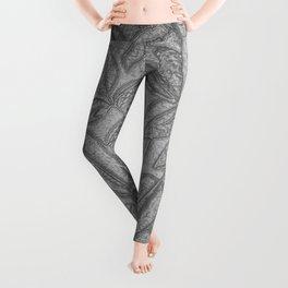 Floral Pattern, Love Nature, Grey Leggings