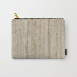 Beige Travertine Stone Texture Carry-All Pouch