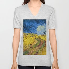 Vincent van Gogh - Wheatfield with Crows Unisex V-Neck