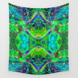 Techno Electric III (Ultraviolet) Wall Tapestry