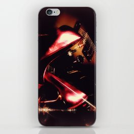 After the Set red high heels wine and music iPhone Skin