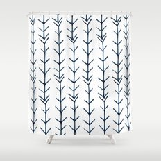 Twigs and branches Shower Curtain