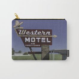 Western Motel on Route 66 Carry-All Pouch