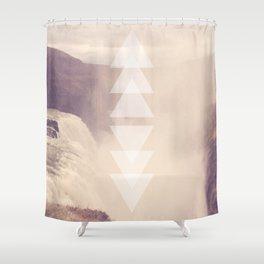 Geometric Waterfall (Rose Gold) Shower Curtain