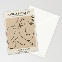 picasso dove lady - peace lady  Stationery Cards