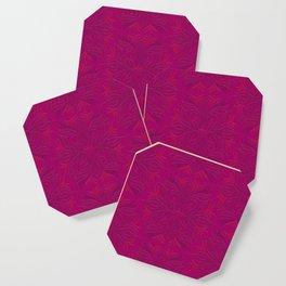 Magenta & Pink Flaming Flower Coaster