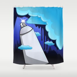 Street Sprayer Shower Curtain