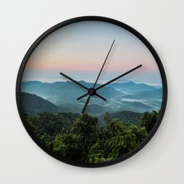 The Morning Mists Wall Clock