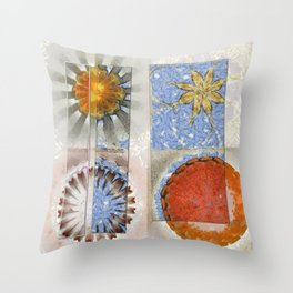 Goondie Fact Flower  ID:16165-095608-32641 Throw Pillow