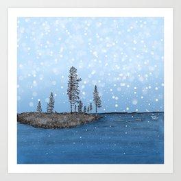 Snowflakes - Lapland8Seasons Art Print