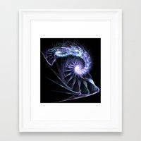 fractal Framed Art Prints featuring Fractal by Elisa Camera