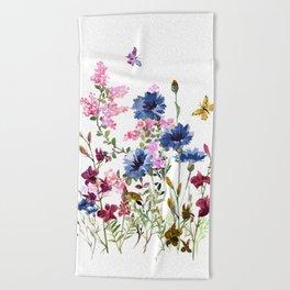 Wildflowers IV Beach Towel