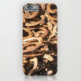good luck - horseshoes iPhone Case