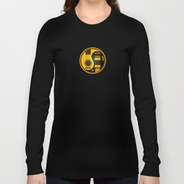 Yellow and Black Acoustic Electric Yin Yang Guitars Long Sleeve T-shirt