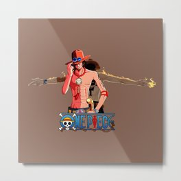 Ace Fire- OnePiece Metal Print