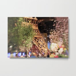 Paris Themed Flower Show Metal Print