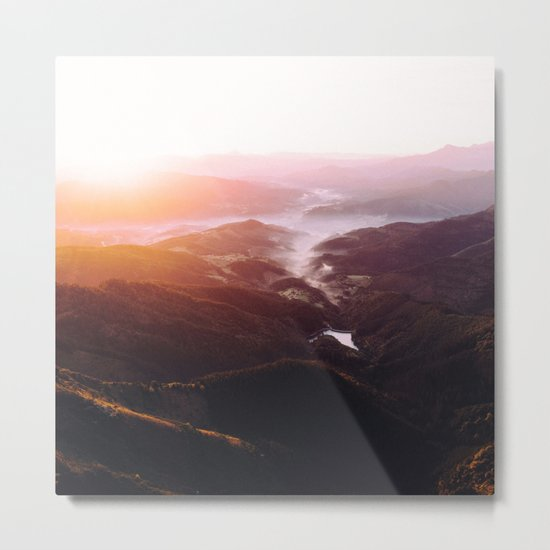 Morning Glory Mountain Landscape Metal Print