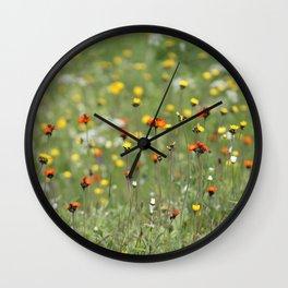 Blooming summer field Wall Clock