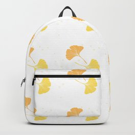 Happy Ginkgo Leaf - I - Yellow, Peach Orange  Backpack