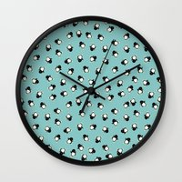 penguins Wall Clocks featuring Penguins! by Kashidoodles Creations