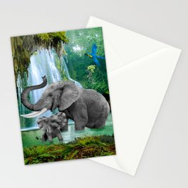 ELEPHANTS OF THE RAIN FOREST Stationery Cards