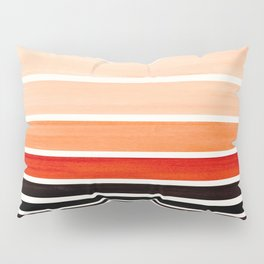 Brown Minimalist Watercolor Mid Century Staggered Stripes Rothko Color Block Geometric Art Pillow Sham