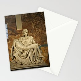 Michelangelo's Pieta in St. Peter's Basilica                                              Stationery Cards
