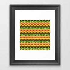 Cheeseburger Chevron Framed Art Print