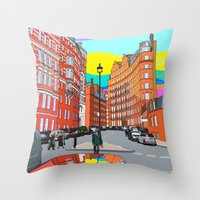 chelsea Throw Pillows featuring Chelsea by Emanuele Taglieri