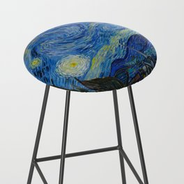 The Starry Night Vincent van Gogh 1889 Oil on canvas Bar Stool