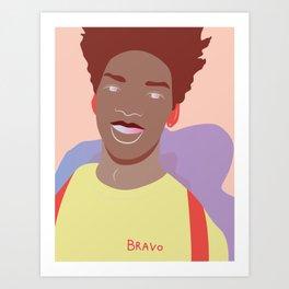 Smilin' Art Print