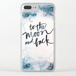to the moon Clear iPhone Case