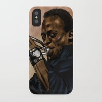 miles davis iPhone & iPod Cases featuring Miles, jazz will never be the same by The Art Warriors